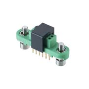 G125-FV11205F1R - 6+6 Pos. Female DIL Vertical Throughboard Conn. Screw-Lok (T+R)