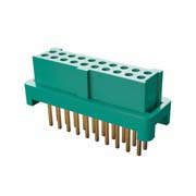 G125-FV12005L0P - 10+10 Pos. Female DIL Vertical Throughboard Conn. for Latches