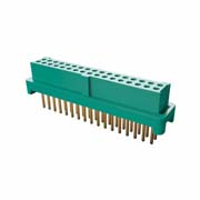 G125-FV13405L0P - 17+17 Pos. Female DIL Vertical Throughboard Conn. for Latches