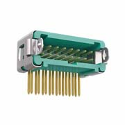 G125-MH11605L3R - 8+8 Pos. Male DIL Horizontal Throughboard Conn. Latches (T+R)