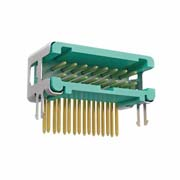 G125-MH11605L5R - 8+8 Pos. Male DIL Horizontal Throughboard Conn. no Latches (T+R)