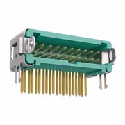 G125-MH12005L1P - 10+10 Pos. Male DIL Horizontal Throughboard Conn. Latches