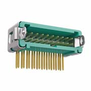 G125-MH12005L3P - 10+10 Pos. Male DIL Horizontal Throughboard Conn. Latches