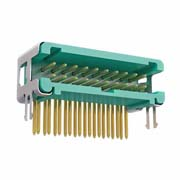 G125-MH12005L5P - 10+10 Pos. Male DIL Horizontal Throughboard Conn. no Latches