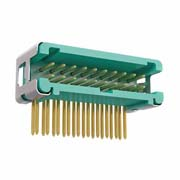 G125-MH12005L7P - 10+10 Pos. Male DIL Horizontal Throughboard Conn. no Latches