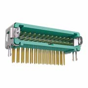 G125-MH12605L1P - 13+13 Pos. Male DIL Horizontal Throughboard Conn. Latches