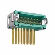 G125-MH21605L3R - 8+8 Pos. Male DIL Horizontal Throughboard Conn. Latches (T+R)