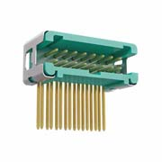 G125-MH21605L7R - 8+8 Pos. Male DIL Horizontal Throughboard Conn. no Latches (T+R)