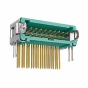 G125-MH22005L2P - 10+10 Pos. Male DIL Horizontal Throughboard Conn. Latches