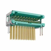 G125-MH22005L6P - 10+10 Pos. Male DIL Horizontal Throughboard Conn. no Latches