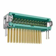 G125-MH22605L2P - 13+13 Pos. Male DIL Horizontal Throughboard Conn. Latches