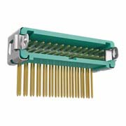 G125-MH22605L3P - 13+13 Pos. Male DIL Horizontal Throughboard Conn. Latches