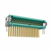G125-MH23405L2P - 17+17 Pos. Male DIL Horizontal Throughboard Conn. Latches