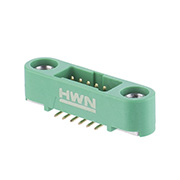 G125-MS11205M1R - 6+6 Pos. Male DIL Vertical SMT Conn. Screw-Lok (T+R)