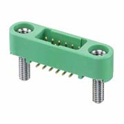 G125-MS11205M2R - 6+6 Pos. Male DIL Vertical SMT Conn. Screw-Lok Board Mount (T+R)
