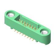 G125-MS13405M1P - 17+17 Pos. Male DIL Vertical SMT Conn. Screw-Lok
