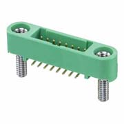 G125-MS11605M2P - 8+8 Pos. Male DIL Vertical SMT Conn. Screw-Lok Board Mount