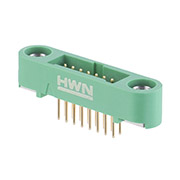 G125-MV11605M1P - 8+8 Pos. Male DIL Vertical Throughboard Conn. Screw-Lok