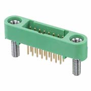 G125-MV11605M2P - 8+8 Pos. Male DIL Vertical Throughboard Conn. Screw-Lok Board Mount