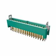 G125-MV13405L1P - 17+17 Pos. Male DIL Vertical Throughboard Conn. Latches