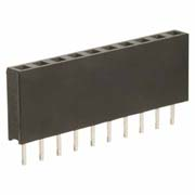 M20-7821042 - 10 Pos. Female SIL Vertical Throughboard Conn.