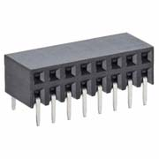 M20-7880842 - 8+8 Pos. Female DIL Horizontal Throughboard Conn.