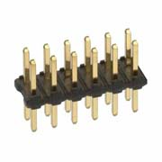 M22-2021005 - 10+10 Pos. Male DIL Vertical Throughboard Conn.