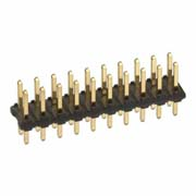 M22-2521005 - 10+10 Pos. Male DIL Vertical Throughboard Conn.