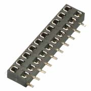 M22-6361042 - 10+10 Pos. Female DIL Vertical SMT Conn.