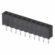 M22-7131042 - 10 Pos. Female SIL Vertical Throughboard Conn.