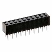 M22-7141042 - 10+10 Pos. Female DIL Vertical Throughboard Conn.