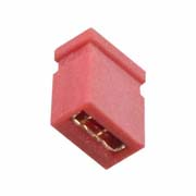 M50-1920005 - 2 Pos. Female Jumper Socket, Closed Shunt, Red