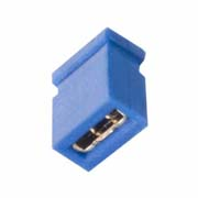 M50-1930005 - 2 Pos. Female Jumper Socket, Closed Shunt, Blue