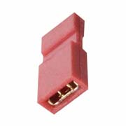 M50-2020005 - 2 Pos. Female Jumper Socket, Handle Shunt, Red