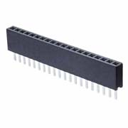 M50-3032042 - 20 Pos. Female SIL Vertical Throughboard Conn.