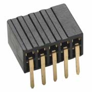 M50-3200545 - 5+5 Pos. Female DIL Horizontal Throughboard Conn.