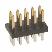 M50-3500542 - 5+5 Pos. Male DIL Vertical Throughboard Conn.
