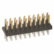 M50-3501042 - 10+10 Pos. Male DIL Vertical Throughboard Conn.
