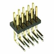 M50-3900542 - 5+5 Pos. Male DIL Horizontal Throughboard Conn.