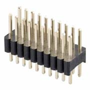 M52-040023W1045 - 10+10 Pos. Male DIL Vertical Throughboard Conn.
