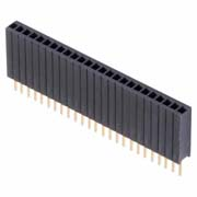 M52-5011045 - 10 Pos. Female SIL Vertical Throughboard Conn.