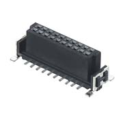 M55-6002042R - 10+10 Pos. Female DIL Vertical SMT Conn. (T+R)
