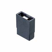M7567-05 - 2 Pos. Female Jumper Socket, Open Shunt, Black
