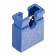 M7583-05 - 2 Pos. Female Jumper Socket, Open Shunt, Blue