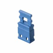 M7687-05 - 2 Pos. Female Jumper Socket, Handle Shunt, Blue