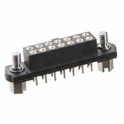 M80-4000442 - 2+2 Pos. Female DIL Vertical Throughboard Conn. Jackscrews