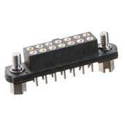 M80-4001442 - 7+7 Pos. Female DIL Vertical Throughboard Conn. Jackscrews