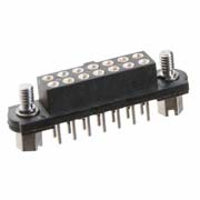 M80-4012642 - 13+13 Pos. Female DIL Vertical Throughboard Conn. Jackscrews