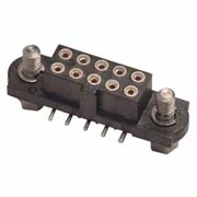 M80-4020442 - 2+2 Pos. Female DIL Vertical SMT Conn. Jackscrews