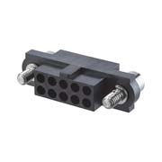 M80-4141698 - 8+8 Pos. Female DIL Cable Housing, Jackscrews